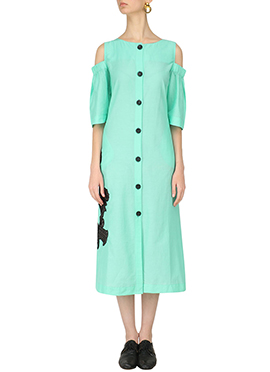 Light Turquoise Green Blended Cotton Tunics
