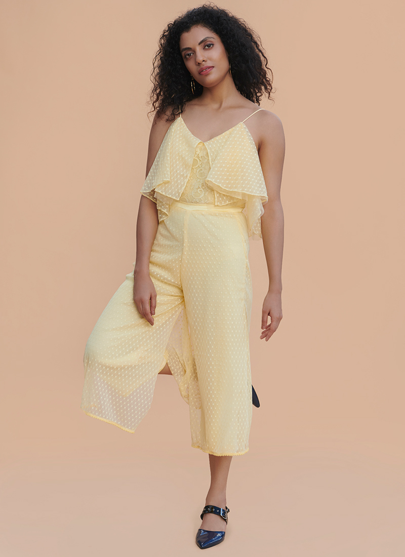c0622496e92 Buy LightYellow Embroidered Jumpsuit