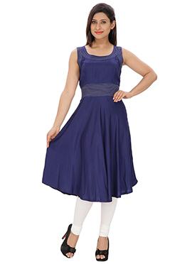 Lingra Blue Viscose Tunic