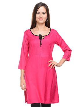Lingra Pink Viscose Kurti