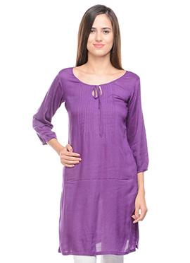 Lingra Purple Kurti