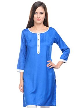 Lingra Viscose Blue Kurti