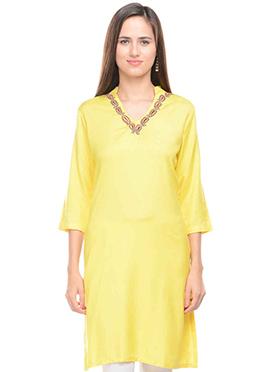 Lingra Viscose Yellow Kurti