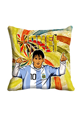 Lionel Messi Beige Cushion Cover