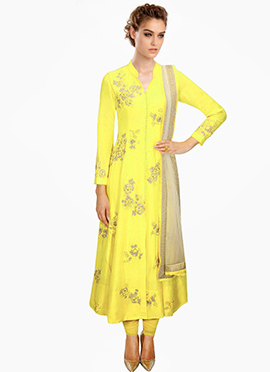 Lovely Yellow Anarkali Suit