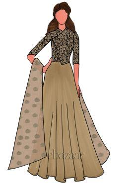 Lustrous Gold Soft Silk Anarkali Suit