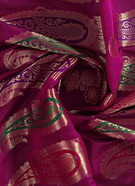 Magenta Art Silk Fabric