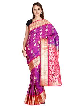 Magenta Art Kancheepuram Silk Saree