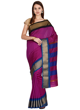 Magenta Art Silk Saree