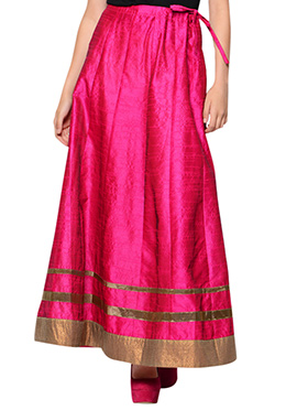 Magenta Art Silk Skirt