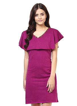 Magenta Blended cotton Tunic
