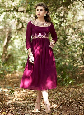 Magenta Georgette Dress