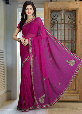 656fd0aa4b1 Buy Pure Georgette Sarees Online - Shop Latest Indian Pure Georgette ...