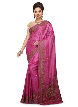 Magenta Pure Benarasi Silk Saree