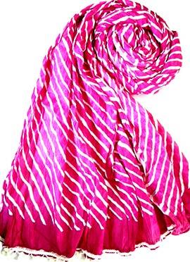 Magenta Raw Silk Stole