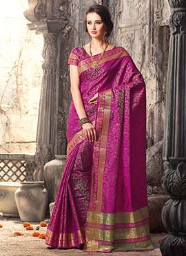 Magenta Uppada Silk Saree