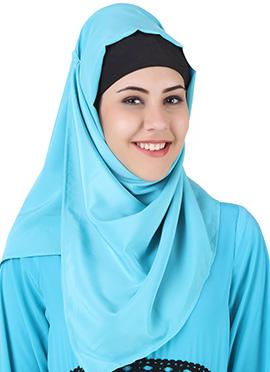 Makalah Maternity Sky Blue Crepe Hijab