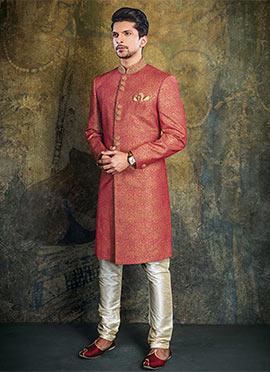 Maroon Achkan Sherwani