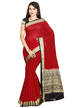 Maroon Art Mysore Silk Saree