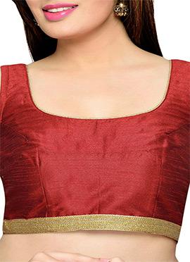 Maroon Art Silk Blouse