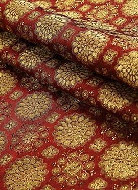Maroon Art Silk Fabric