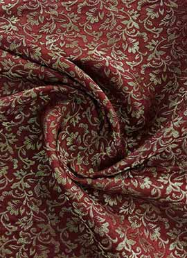 Maroon Brocade Fabric