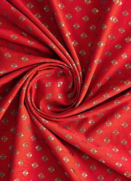 Red Brocade Fabric