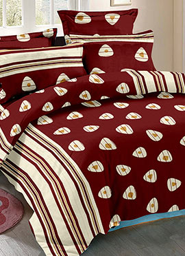 Maroon Cotton Bed Sheet