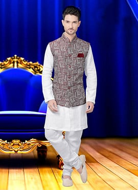 Maroon Cotton Nehru Jacket