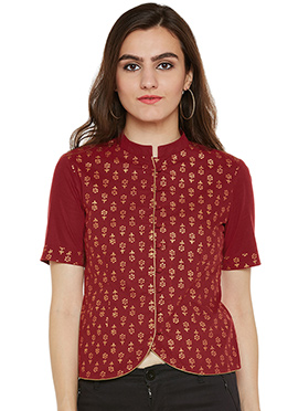 Maroon Cotton Top