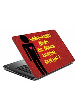 Maroon Kabhi Kabhi Laptop Skin