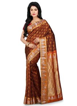 Maroon Kancheepuram Pure Silk Saree