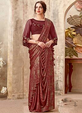 8ea21410749 Indo Western Sarees   Buy Indo Western Sarees Online Shopping