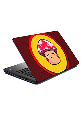 Maroon N Yellow Shy Face Girl Laptop Skin