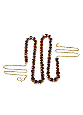 Maroon Stone Studded Saree Belt