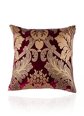Dark Magenta Velvet Cushion Cover