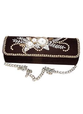 Maroon Velvet Sling Bag