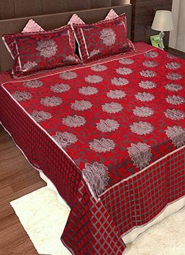 Maroon Wool Bed Spread