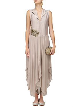 Mauve Georgette Gown