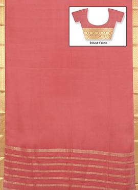 Mauve Mysore Pure Silk Saree