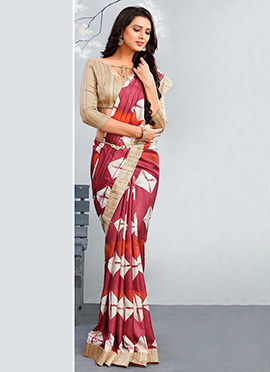 Mauvewood Blended Silk Cotton Saree