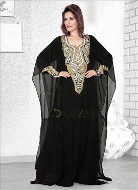 Mesmeric Black Farasha Fustan