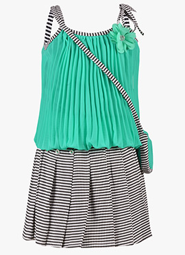Mint Green Georgette Kids Dress