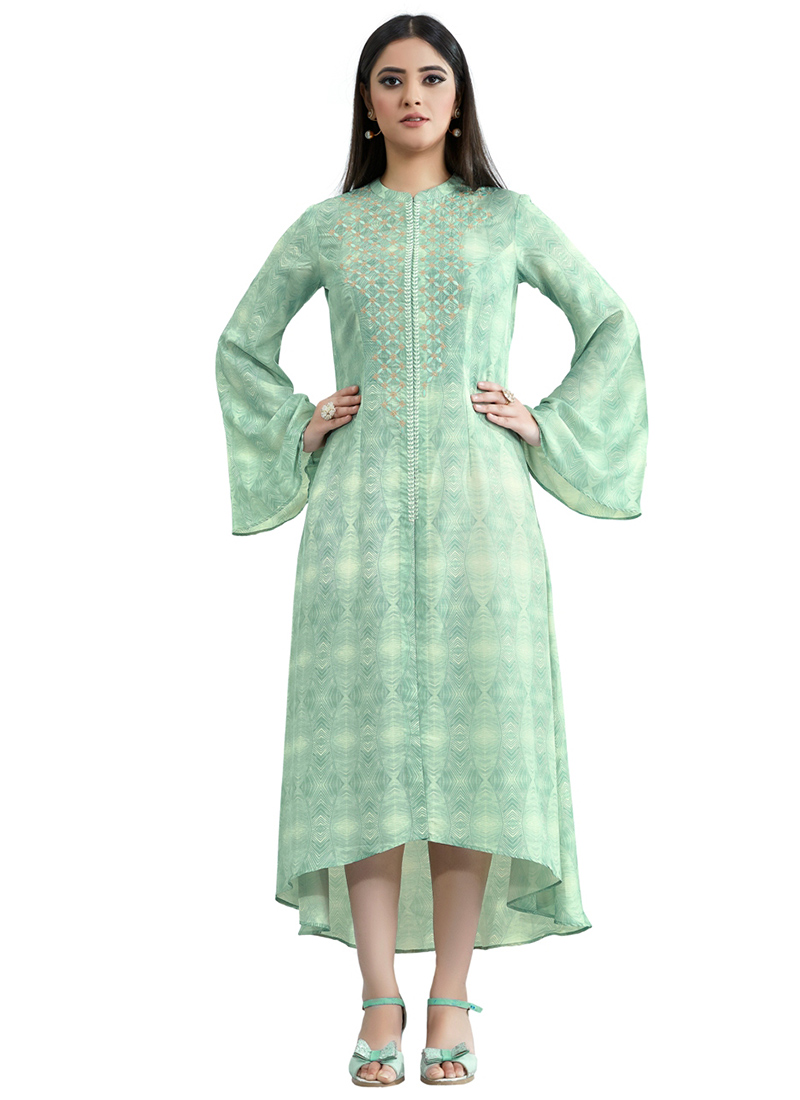 23a328fdb4 Buy mint green muslin dress printed dresses and gown online jpg 800x1100 Green  muslin gown