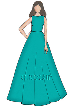 Mint Leaf Taffeta Ball Gown