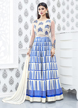 Mouni Roy Blue Anarkali Suit