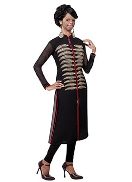 Mrs Laxmi Saa Black Georgette Kurti