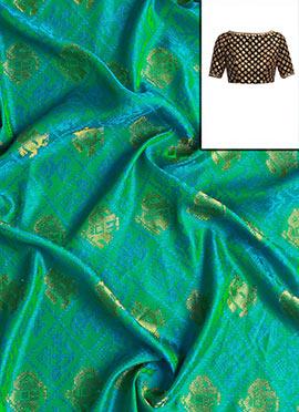 Mughal Green Art Silk Blouse