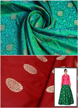 Mughal Green N Maroon Art Silk Jacket N Circular S