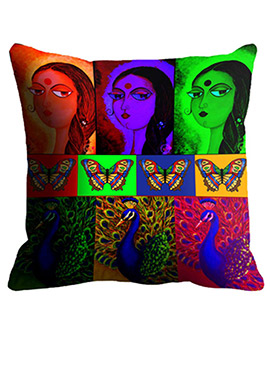 Multi Girls Cushion Cover